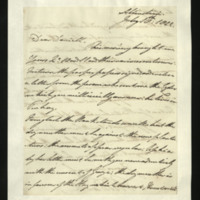 Letter from the Duke of Clarence to J.W. Daniell, written in Altenstein