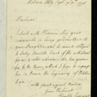 Letter from Gertrude, Dowager Duchess of Bedford to [Mrs Charles Feilding]