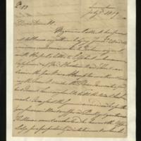 Letter from the Duke of Clarence to J.W. Daniell, written at Lievenstein [Liebenstein?]