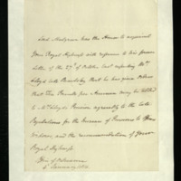 Letter from Lord Mulgrave to the Duke of Clarence, written at the Office of Ordnance