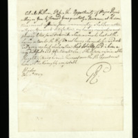 Letter from George III to Colonel Hotham