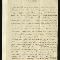 Letter from Princess Elizabeth to Sir Henry Halford, on the health of the King, and correspondence between herself and Halford