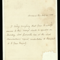 Letter from Lord Grenville to George III