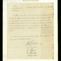 Letter from William Pitt to George III