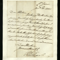 Letter from William, Duke of Clarence to Lady Mayo, written at St James's, returning young Fox's letters and papers.