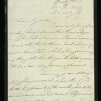 Letter from William, Duke of Clarence to Augustus, Duke of Sussex, written at Bushy House