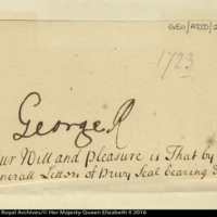Autograph of George I