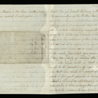 Letter from Queen Charlotte to Frederick, Duke of York and Albany