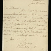 Letter from William, Duke of Clarence to J.W. Daniell, written at Meiningen