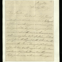 Letter from William, Duke of Clarence to Sir John Barton, written at Brighton