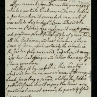 """Note from Sir Joseph Banks"""