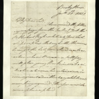 Letter from William, Duke of Clarence to John Bourke 4th Earl of Mayo, written at Bushy House