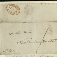 Letter from Messrs Bullock & Arnold to General Jacob de Budé reporting that the lease executed by Mrs Long will be brought to New Burlington Street on the 29th, at which time it will be exchanged for the counterpart 'upon your executing it'.