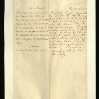 Letter [in French] from the Princess of Wales to Mrs. Clayton [GEO/ADD/28/101], reporting that 'the reconciliation will be made to day [sic]', so that she will soon have the 'satisfaction of naming you... without constraint', and telling her to mention this to no one; with transcription in French and English translation [GEO/ADD/28/059].