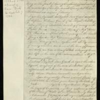 Copy of the will of Capt. William Augustus Merrick, with addenda.