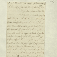 Letter from Queen Charlotte to Lady Charlotte Finch