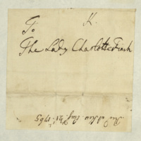 Letter from George III to Lady Charlotte Finch