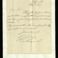 Letter from William, Duke of Clarence to Sir Richard Puleston, written at the Admiralty
