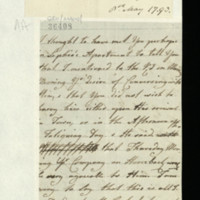 Letter from Queen Charlotte to George, Prince of Wales