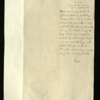 Letter from Anne, Princess Royal to Mrs Clayton [GEO/ADD/28/148] relaying a request from the Queen asking Lord Lymington to bring Lord Shaftesbury to the Levee today, as the King had not spoken to him the previous day; with transcription [GEO/ADD/28/041].