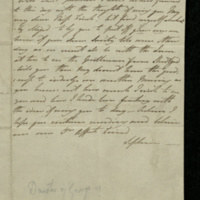 Letter from Princess Sophia to Miss Finch