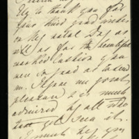 Letter from Queen Adelaide to Lady Ely, thanking Lady Ely for the birthday wishes and the present of a cushion.