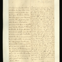 Letter [in French] from the Princess of Wales to Mrs. Clayton [GEO/ADD/28/128] returning two letters, reporting that she has directed that 'the order of your freind' [presumably Dr Freind] regarding Princess Amelia's treatment is to be followed and that, on account of her age, Princess Amelia has been consulted on these matters, and commenting on her own health; with transcription in French and English translation [GEO/ADD/28/007].
