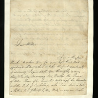Letter from Frederick, Duke of York to Prince William, written at Hanover