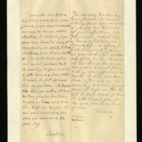 Letter [in French] from the Princess of Wales to Mrs. Clayton [GEO/ADD/28/131], expressing thanks for her 'affection' and approval of the physician, reporting that Prince William is much improved, describing the treatment he has been given and expressing her hope that he will soon be well; with transcription in French and English translation [GEO/ADD/28/034].