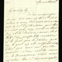 Letter from Queen Adelaide to Lady Ely, written at St James's
