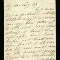 Letter from Queen Adelaide to Lady Ely, written at Windsor Castle, thanking Lady Ely for her letter and her constant attachment.