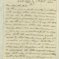 Letter from Princess Elizabeth to Lady Charlotte Finch