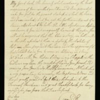 Letter from George III to the Bishop of Worcester