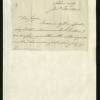 Letter from the Duke of Clarence to George FitzClarence, written at the Admiralty