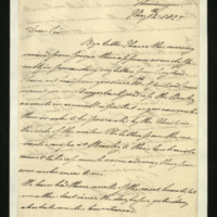 Letter from the Duke of Clarence to J.W. Daniell, written in Meiningen