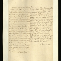 Letter [in French] from the Princess of Wales to Mrs. Clayton [GEO/ADD/28/139], forwarding a letter [not on file] and reporting that the redness has appeared again and requesting the advice of 'our freind' [sic] [presumably Dr Freind] as to what treatment to give Princess Amelia to drive 'this humour' out, as the powder he provided does not seem sufficient; with transcription in French and English translation [GEO/ADD/28/023].