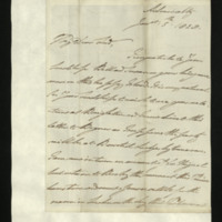 Letter from William, Duke of Clarence to John Bourke, 4th Earl of Mayo, written at the Admiralty