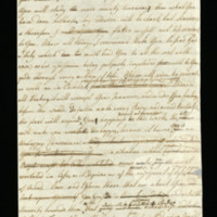 Letter, with draft, from Queen Charlotte to George, Prince of Wales