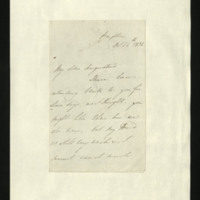 Letter from Sophia Sidney to Augustus FitzClarence, written in Brighton