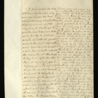 Letter [in French] from the Princess of Wales to Mrs. Clayton [GEO/ADD/28/113], reporting on Princess Amelia's improvement, her ability to eat and drink more easily, and that she is to have a blister applied and be 'blouded' [sic] despite the King's initially forbidding it, and commenting on the opposition that she faces; with transcription in French and English translation [GEO/ADD/28/012].