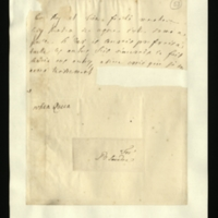 Letter [in French] from Queen Caroline to Lady Sundon, reporting that the King was annoyed about an unidentified lady speaking out of turn, and that he would have preferred her [or possibly, her husband?] if she [or he?] [possibly for some post?] had not made it known to others.