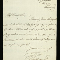Letter from William, Duke of Clarence to Lord Keith, written a tSt James's