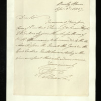 Letter from William, Duke of Clarence to Sir Richard Puleston, written at Bushy House