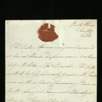 Letter from William, Duke of Clarence to J. Brandon, written at Bushy House