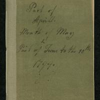 """Diary for """"Part of Aprill. Month of May & Part of June to the 10th 1794"""""""