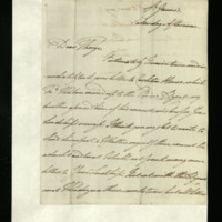 Letter from William, Duke of Clarence to John Bourke, 4th Earl of Mayo, written at St James's