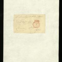 Part of envelope addressed to Rev. Mr Car from William, Duke of Clarence [?]