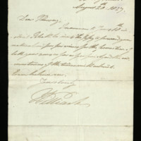 Letter from William, Duke of Clarence to Murray, written at Bushy House