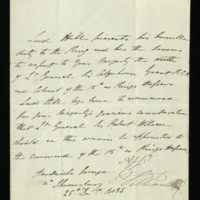 Letter from Lord Hill to William IV, written at Hardwicke Grange