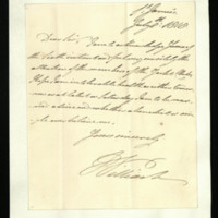 Letter from William, Duke of Clarence to Sir Richard Puleston, written at St James's